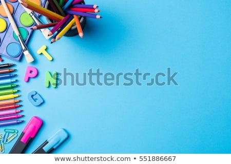 école · matériaux · pomme · rouge · bureau - photo stock © lunamarina