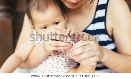 nő · vág · köröm · közelkép · manikűrös · kezek - stock fotó © andreypopov