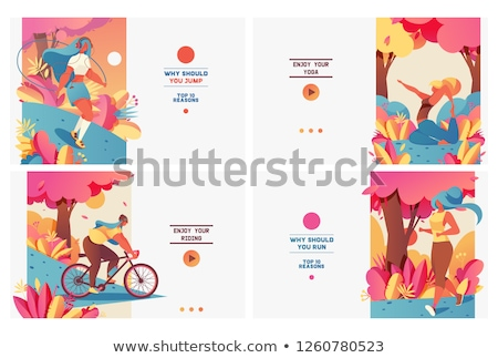 Stock photo: Young sports girl posing in the park