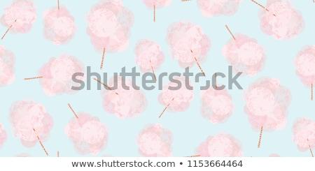 Cotton Candy on Stick Cloud Sugar Seamless Pattern Stock photo © robuart