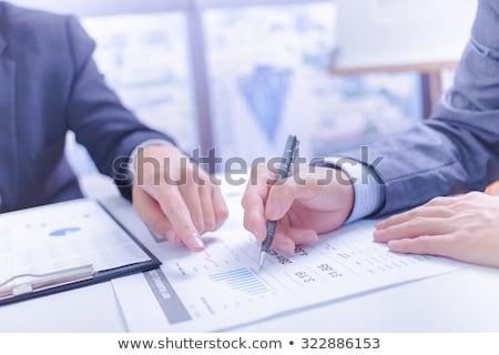 два бизнесменов глядя докладе обсуждение Сток-фото © Freedomz