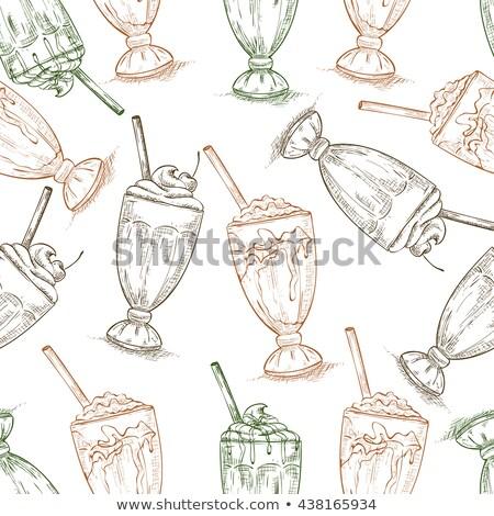 vanille · fast · food · drinken · cafe · restaurant - stockfoto © netkov1