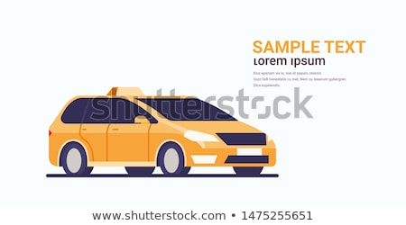 Taxi flat concept icons Stock photo © netkov1