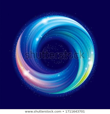 Streszczenie wszechświata banner gwiazdki świetle efekt Zdjęcia stock © SArts