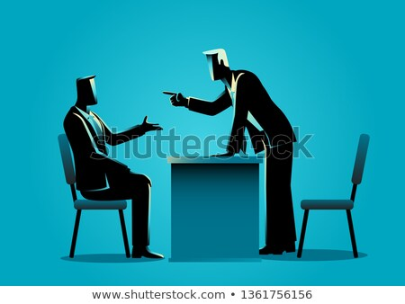 Man Boss With Subordinate Icon Stock photo © angelp