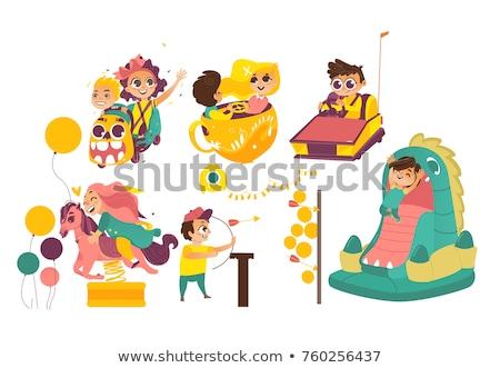Amusement Park, Smiling Child, Inflatable Balloon Stock photo © robuart