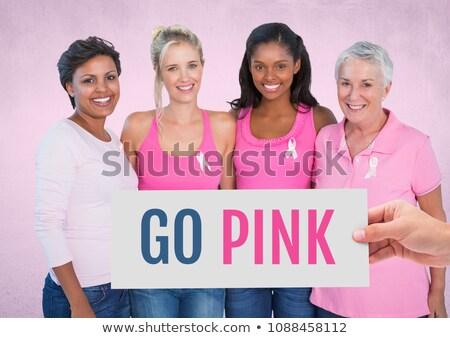 ピンク 文字 手 カード 乳癌 ストックフォト © wavebreak_media