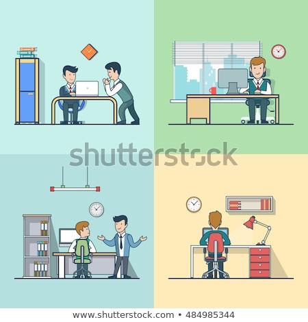 Kantoor leven ontwerp stijl vector Stockfoto © Decorwithme