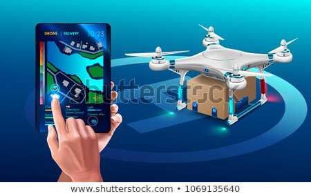 Drone or Quadcopter, Wireless Device, Uav Vector Stock photo © robuart