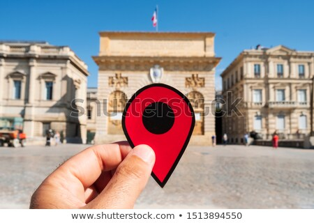 red marker in the Porte du Peyrou in Montpellier Stock photo © nito