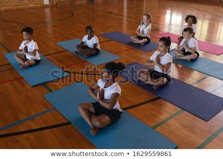 Görmek öğrenci yoga meditasyon yoga mat Stok fotoğraf © wavebreak_media