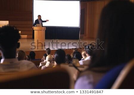 вид сзади аудитории сидят прослушивании бизнесмен Сток-фото © wavebreak_media