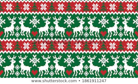 Noel kırmızı nakış semboller Stok fotoğraf © robuart