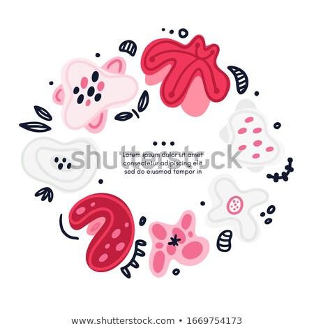 ベクトル サークル フローラル 手描き 抽象的な ストックフォト © user_10144511