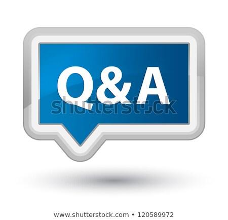 Perguntas respostas discussão fórum faq bandeira Foto stock © olivier_le_moal