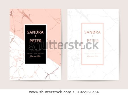 creative marble texture business card premium design Stock photo © SArts