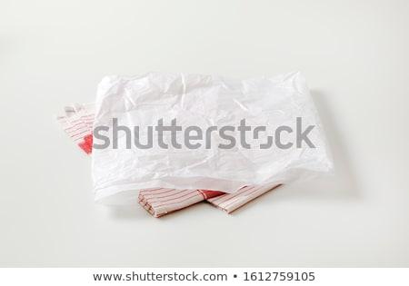 Branco açougueiro papel prato toalha folha Foto stock © Digifoodstock