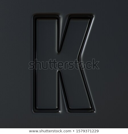 Noir gravé police lettre 3D rendu 3d Photo stock © djmilic