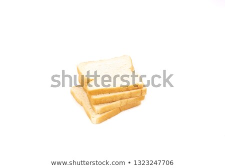 Fresh loaf of white bread on white background. Traditional bakery heritage. Stock photo © DenisMArt