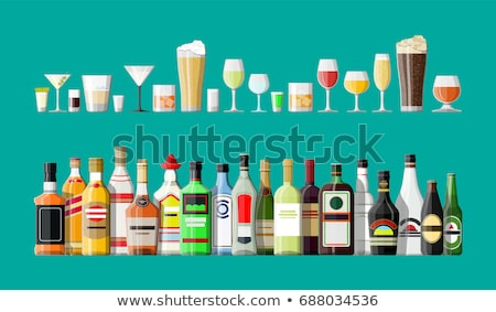 Bira şampanya tekila rom alkol içmek Stok fotoğraf © robuart