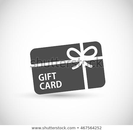 Gift card świadectwa talon zakupy jeden sto Zdjęcia stock © robuart