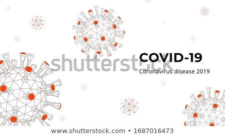 Coronavirus alarm banner ontwerp gezondheid wetenschap Stockfoto © SArts
