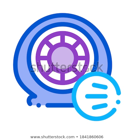 tire air vent icon vector outline illustration Stock photo © pikepicture