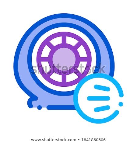 タイヤ 空気 ベント アイコン ベクトル ストックフォト © pikepicture