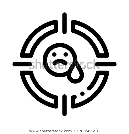 target on sad person icon vector outline illustration Stock photo © pikepicture