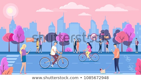 Cuplu mers vară căldură urban oraş Imagine de stoc © robuart
