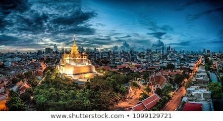 Tapınak Bangkok keşiş heykel Tayland yaz Stok fotoğraf © bloodua