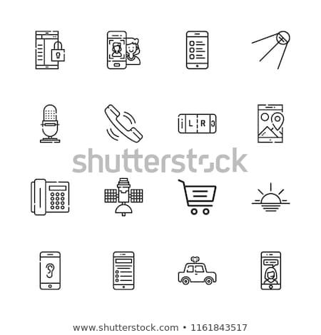 Carro compras 16 ícones vetor teia Foto stock © ayaxmr