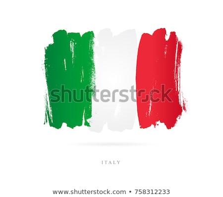 Italia bandiera mano bianco sfondo libertà Foto d'archivio © butenkow