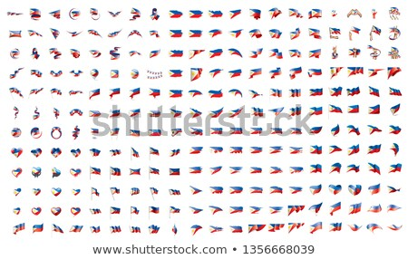 very big collection of vector flags of the Philippines Stock photo © butenkow