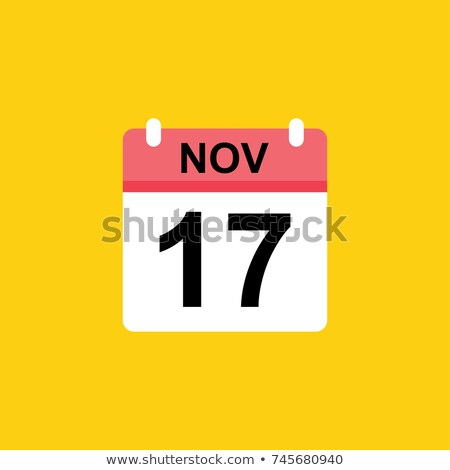 Simple black calendar icon with 17 november date isolated on white Stock photo © evgeny89