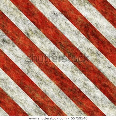 Elnyűtt figyelmeztető jel fehér piros csíkok textúra Stock fotó © evgeny89