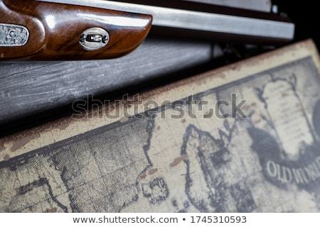 Pisztoly kézifegyver fém izolált fehér stúdió Stock fotó © albund