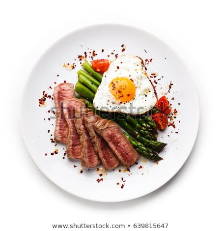Beefsteak with fried egg  Stock photo © Alex9500