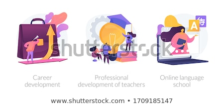 Profi fejlesztés tanárok absztrakt iskola hatóság Stock fotó © RAStudio