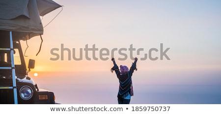 Female Enjoying Camping Stock photo © Anna_Om