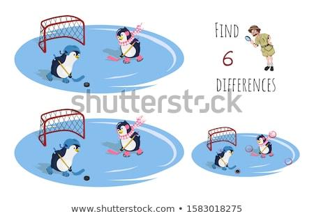 Diferenças jogo pássaro animais desenho animado Foto stock © izakowski