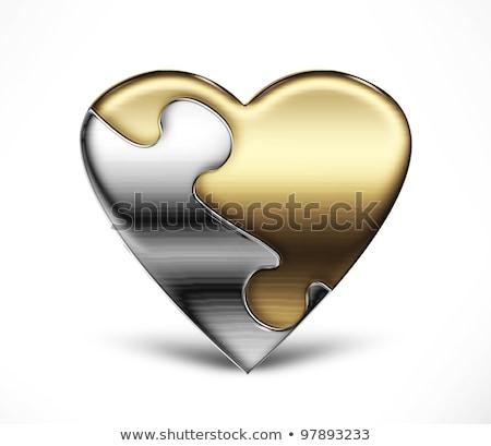 bilmece · kalp · yalıtılmış · beyaz · eller · el - stok fotoğraf © ruslanomega