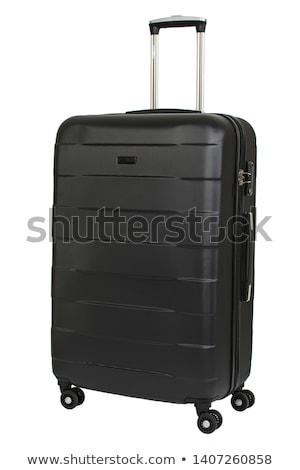 Czarny walizkę tle wakacje wakacje teczki Zdjęcia stock © leeser