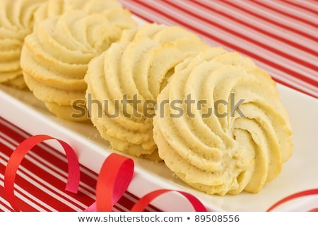 Whipped shortbread pinwheels Stock photo © fotogal