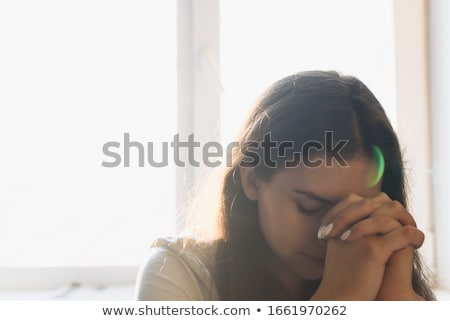 Woman requesting silence Stock photo © photography33