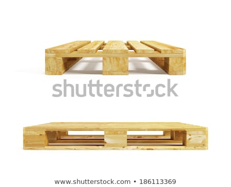 Stack of wooden pallets isolated on white. Stock photo © latent