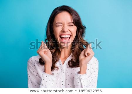 блузка довольно молодые девушки женщины рубашку Сток-фото © disorderly
