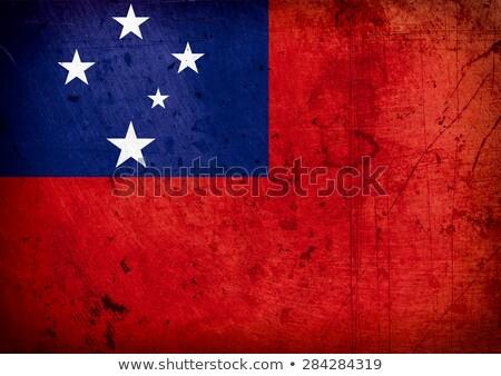 Grunge bandera Samoa edad vintage textura grunge Foto stock © HypnoCreative