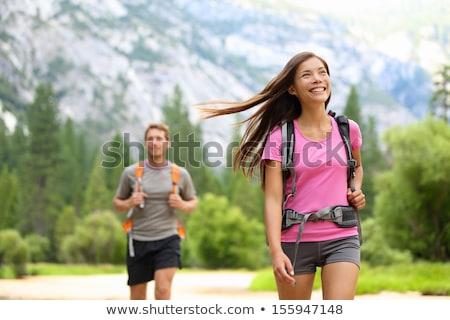 Pareja · senderismo · forestales · naturaleza · blanco · caminata - foto stock © photography33