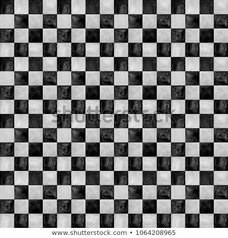 Tabuleiro de xadrez aquarela abstrato cor preto e branco Foto stock © vlad_star